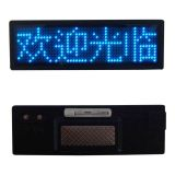 Gafete de Nombre LED Azul (102x33x5mm)