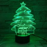 3D acrylic Light, with 7 Color Changes, Dimmable LED Night Light, Remote Control and Smart Touch Christmas Tree