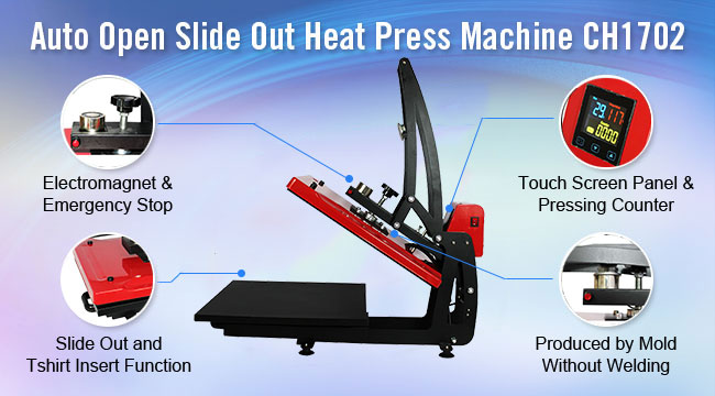 Auto Open Heat Press Machine Vertical Version