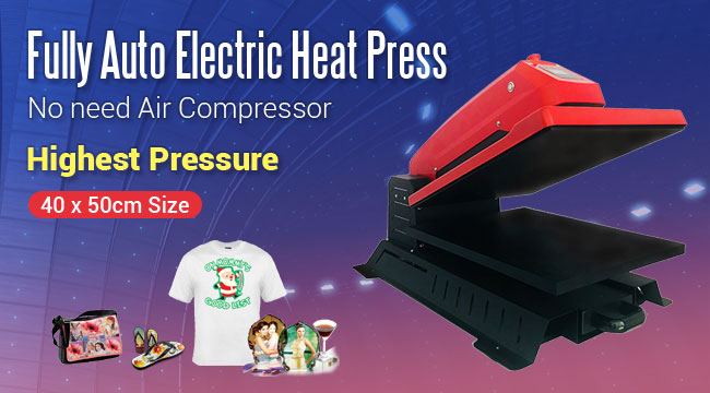 Fully Auto Electric T-Shirt Heat Press Sublimation Transfer Machine