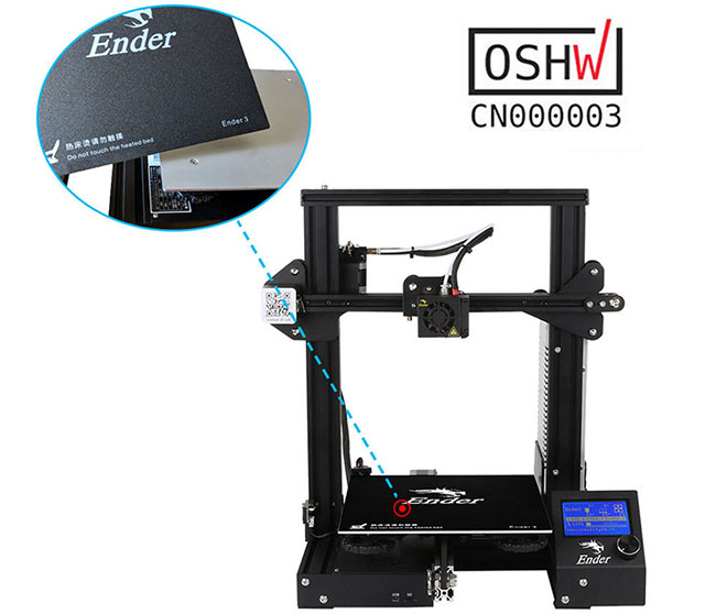 Creality Ender3 3D Printer Resume Print OSHW Certified 220 x 220 x 250 mm DC 24V 15A